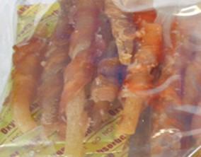 鸡肉绕牛筋卷